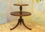 A003 Vintage two-tiered Ducan Phyfe style table