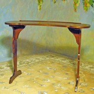 A014 New Dejeuner table – pull up writing table crafted of mative wild black cherry wood
