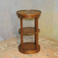 A011 Vintage round chariside etegere table