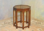 A012 Vintage octagon chairsidetable in Asian style
