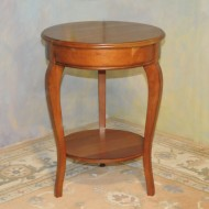 A016 New Chairside table of solid cherry and veneer