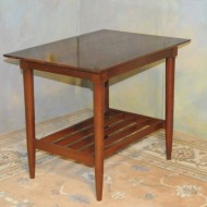 A020 Two vintage end tables of modern design intheir original finish of solid cherry