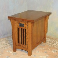A024 New chairside / end table, Arts & Craft style all of solid oak