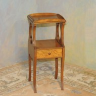 A026 Vintage chairside table in original finish with one drawer