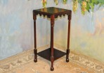 #94 New Plant Stand of solid mahogany Great design