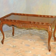 A031 Vintage Coffee table -Formal French style with book matched veneer top