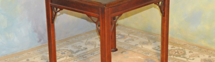 A032 New End Table. Great high quality and well made.  Solid wood with veneer