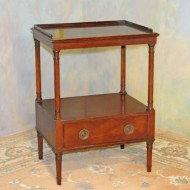 A041 1 pair Vintage End Tables of solid mahogany in original finish