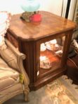 #230 Vintage Traditional Lighted Curio Table
