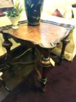 #284 sq. & #283 end. New Square Jacobean style table