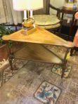 #369 Wedge two shelf table