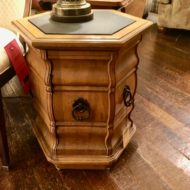 #411 Hexagonal, slate top, commode table