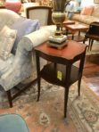 #662 & #663 Leather Top Mahogany Table