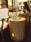 #894 Drexel Mid Century Drum Table