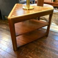 #923 Mid Century Modern Triangle Wedge Table