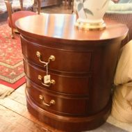 #962 & #961 Oval 3 Drawer Drum Table
