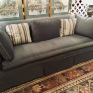 #769 Sofa tuxedo style with lower arms